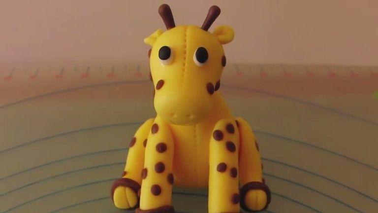 jirafa de fondant