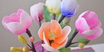 como-hacer-tulipanes-en-pasta-de-goma