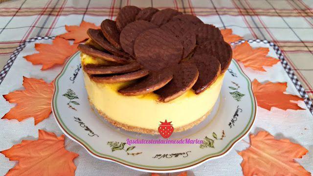 Tarta de natillas y galletas de chocolate