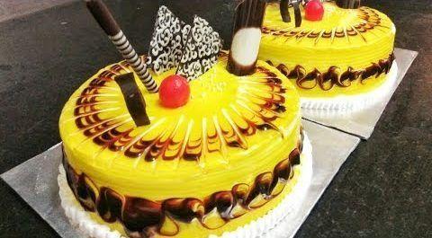 tarta espejo amarilla