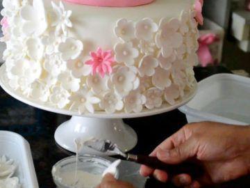 Clase magistral texturizado pastel con flores