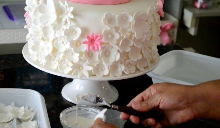 Clase magistral texturizado pastel con flores primera parte