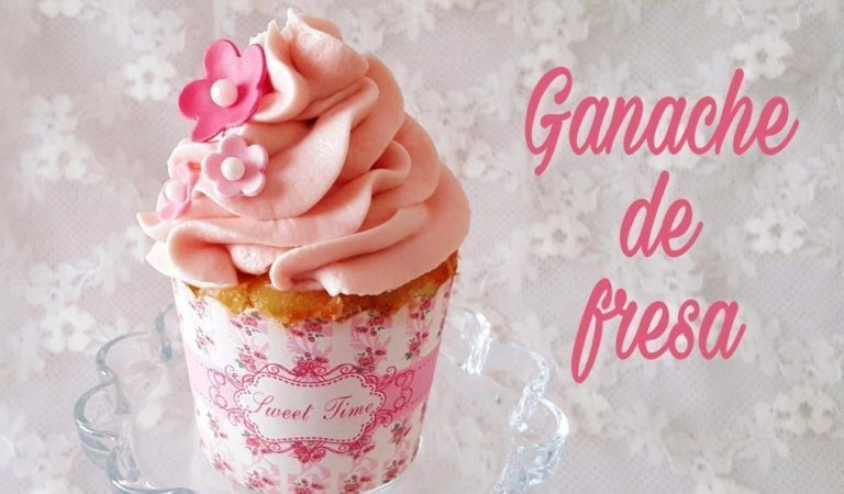 Ganache de fresa ¡La cobertura perfecta para tus cupcakes!