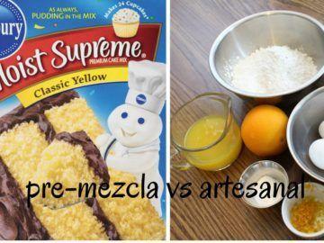 Pasteles de caja versus pasteles artesanales