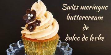 Buttercream de merengue suizo y dulce de leche
