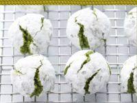 Galletas japonesas de té verde matcha