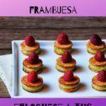 Bocados de crema de pistachos y frambuesa receta