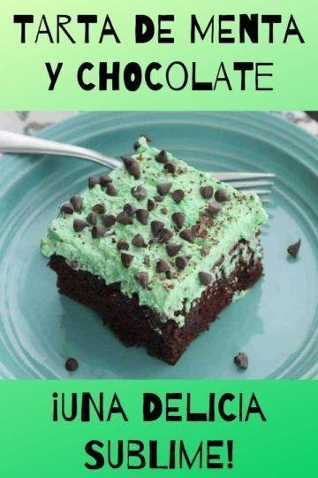 Tarta de menta y chocolate