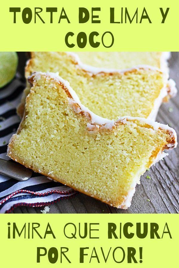 receta de torta de lima y coco