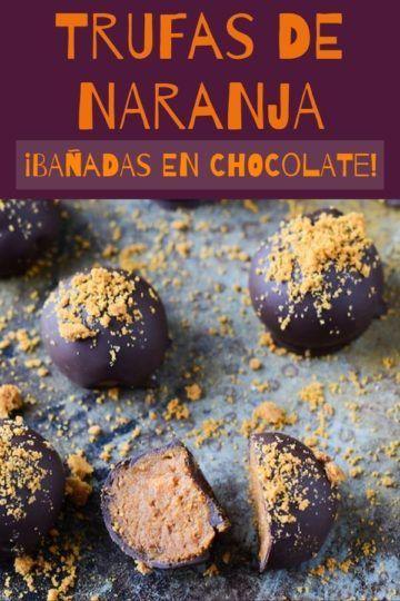 Trufas de naranja bañadas en chocolate