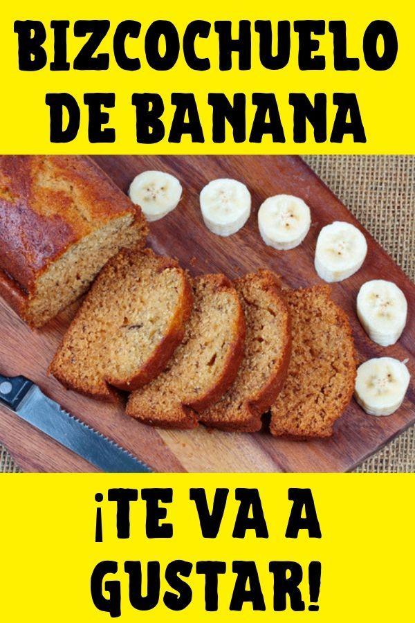 receta de bizcochuelo de banana
