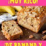 receta de bizcochuelo de banana y avena