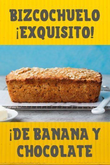 receta de bizcochuelo de banana y chocolate