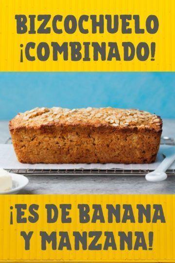 receta de receta de bizcochuelo de banana y manzana