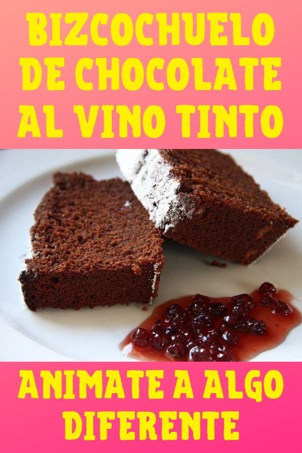 receta de bizcochuelo de chocolate al vino tinto