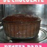 receta de bizcochuelo de chocolate microondas