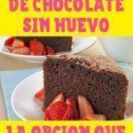 receta de bizcochuelo de chocolate sin huevo