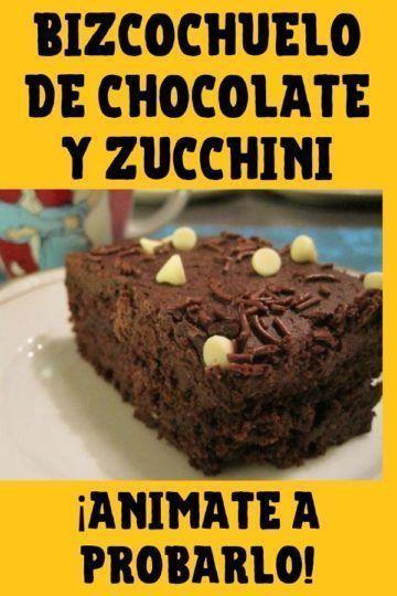 receta de bizcochuelo de chocolate y zuchinni