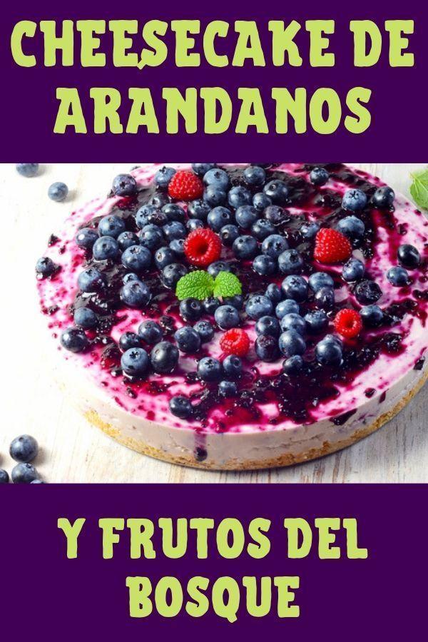 cheesecake con mermelada de arándanos y frutos rojos