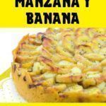 tarta de manzana y banana