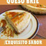 tarta de queso brie