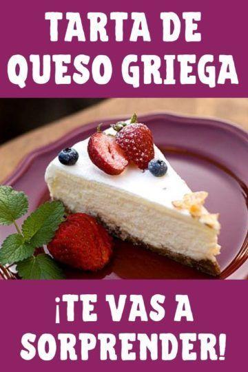 tarta de queso griega