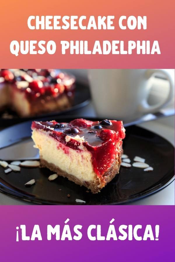 tarta de queso o cheesecake con queso philadelphia