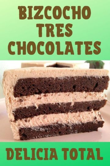 Bizcocho tres chocolates