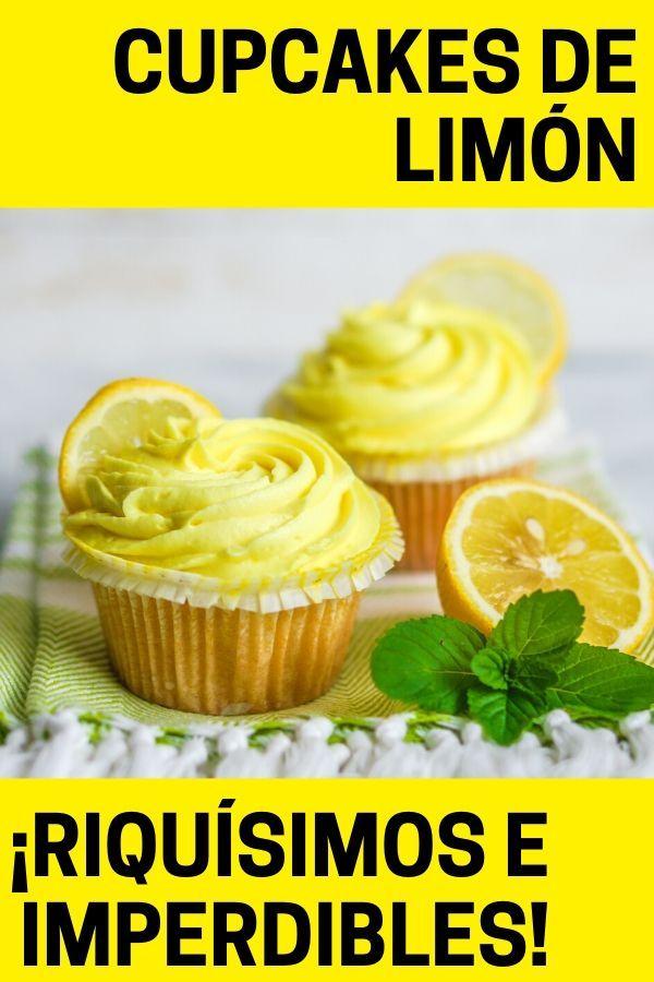 Cupcakes de limón exquisitos