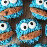 Cupcakes del monstruo de las galletas
