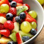 Macedonia de frutas.