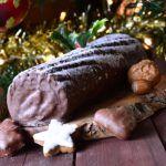 Tronco de Navidad con galletas.