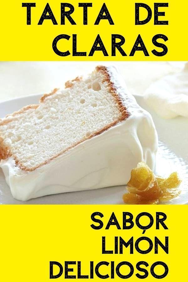 Tarta de claras sabor limón
