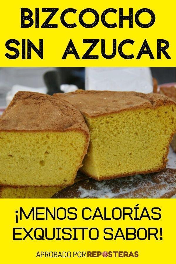Bizcocho sin azúcar menos calorías