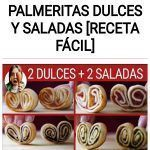 Como hacer PALMERITAS dulces y saladas [RECETA FÁCIL]