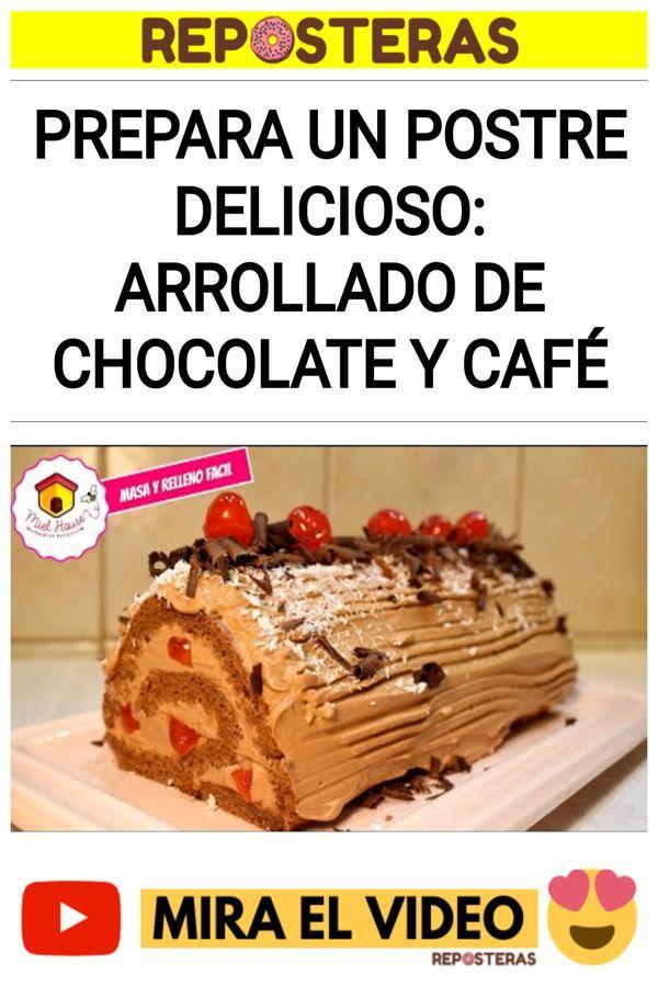 Prepara un postre delicioso: Arrollado de chocolate y café