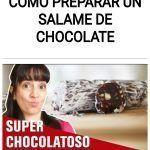 Como preparar un SALAME DE CHOCOLATE