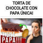 Como hacer una TORTA DE CHOCOLATE CON PAPA única!