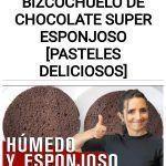 Receta de BIZCOCHUELO DE CHOCOLATE super ESPONJOSO [PASTELES DELICIOSOS]