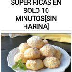 Galletas de coco super RICAS en solo 10 minutos[SIN HARINA]
