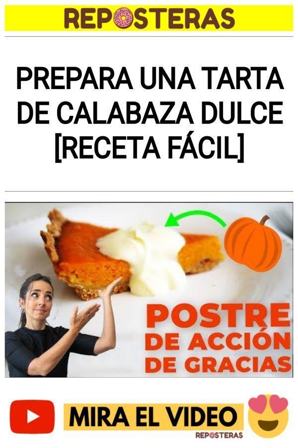 Prepara una tarta de calabaza dulce [RECETA FÁCIL]