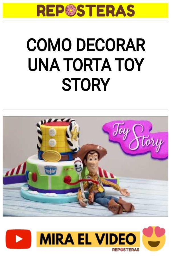 Como decorar una torta TOY STORY