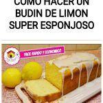 Como hacer un BUDIN de limon SUPER ESPONJOSO