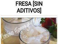 Como hacer Agua de Horchata con Fresa [sin aditivos]