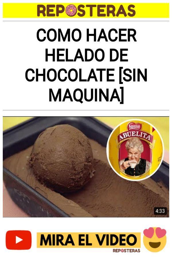 Como hacer HELADO DE CHOCOLATE [SIN MAQUINA]