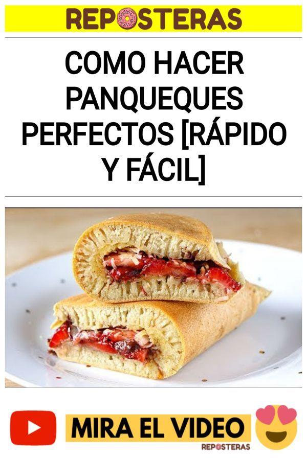 Como hacer PANQUEQUES perfectos [RÁPIDO y FÁCIL]