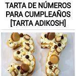Como hacer una tarta de números para cumpleaños [Tarta adikosh]