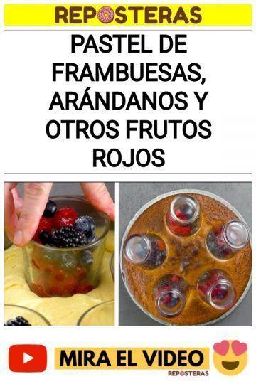 Pastel de frambuesas, arándanos y otros frutos rojos