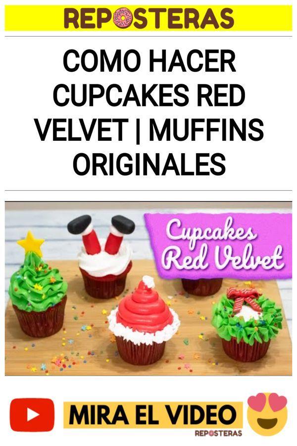 Como hacer Cupcakes Red Velvet   Muffins originales