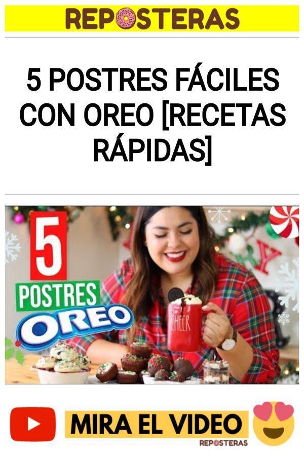 5 Postres FÁCILES con Oreo [RECETAS RÁPIDAS]